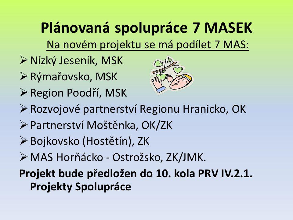 Plánovaná spolupráce 7 MASEK
