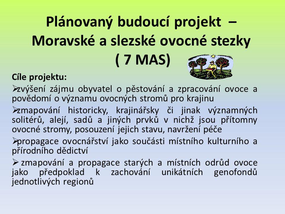 Plánovaný budoucí projekt – Moravské a slezské ovocné stezky ( 7 MAS)