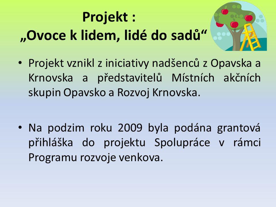 """Projekt : """"Ovoce k lidem, lidé do sadů"""