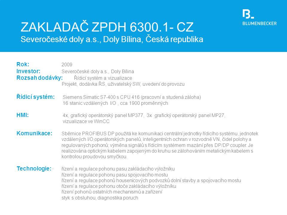 ZAKLADAČ ZPDH 6300. 1- CZ Severočeské doly a. s