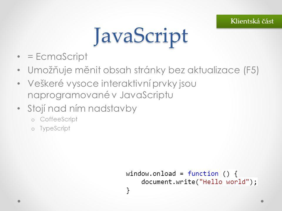 JavaScript = EcmaScript