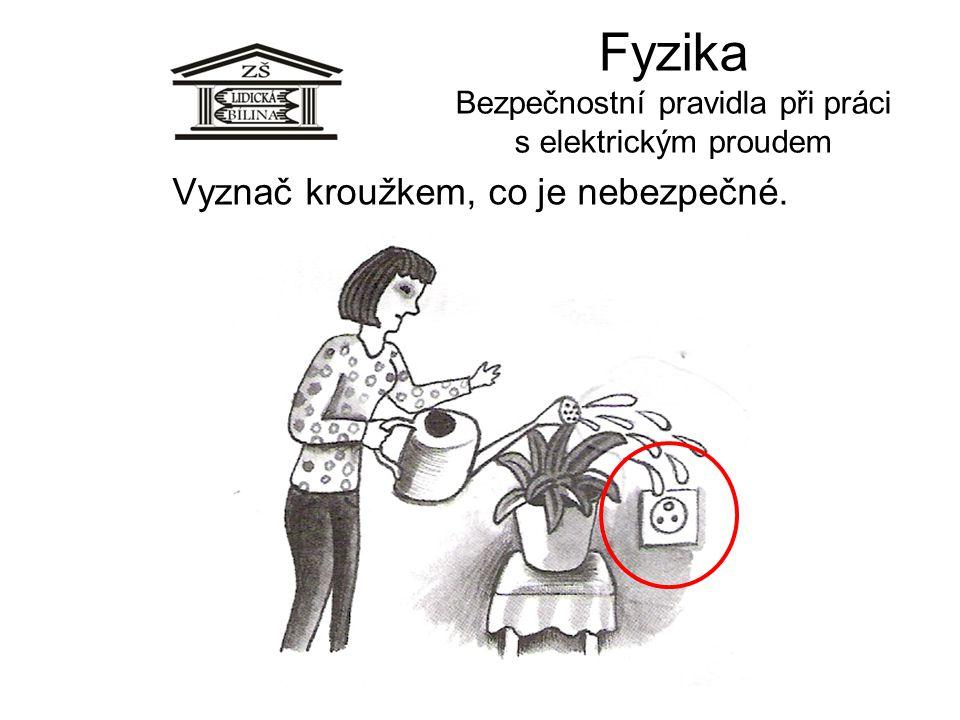 Fyzika Bezpečnostní pravidla při práci s elektrickým proudem