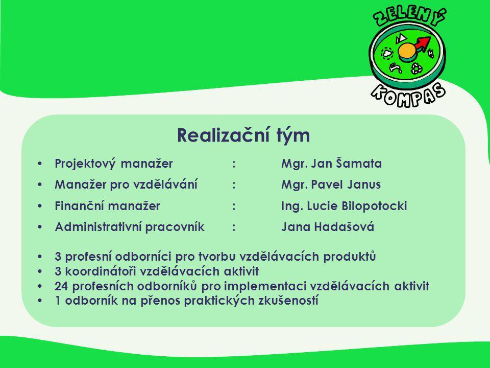 Realizační tým Projektový manažer : Mgr. Jan Šamata