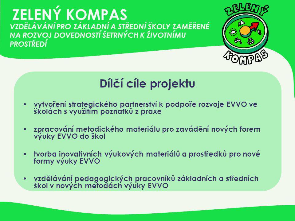 ZELENÝ KOMPAS Dílčí cíle projektu