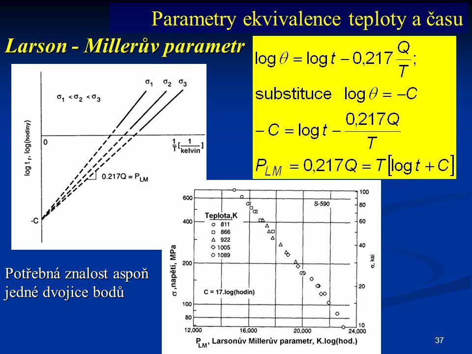 Parametry ekvivalence teploty a času Larson - Millerův parametr