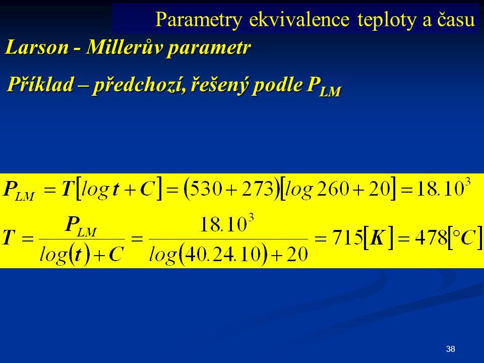 Parametry ekvivalence teploty a času
