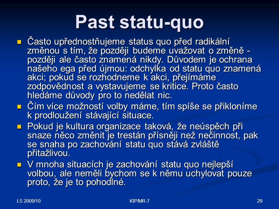 Past statu-quo