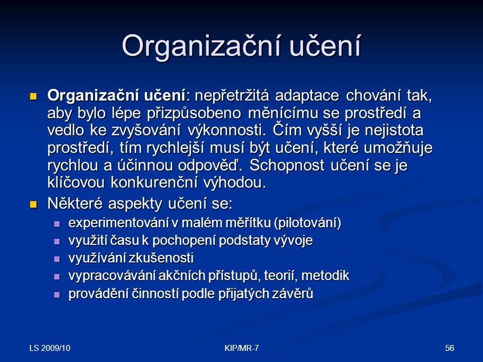 Organizační učení