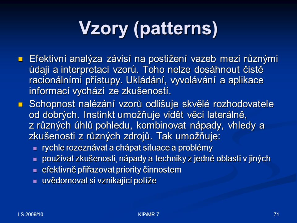 Vzory (patterns)