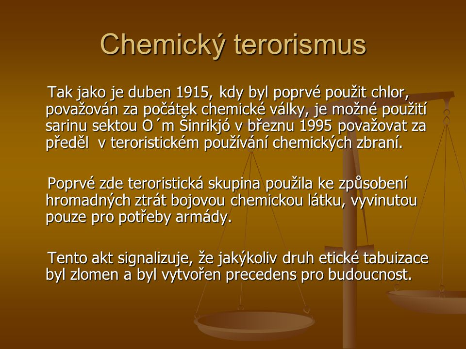 Chemický terorismus