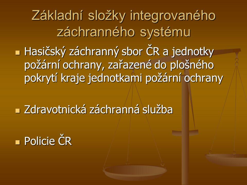Základní složky integrovaného záchranného systému