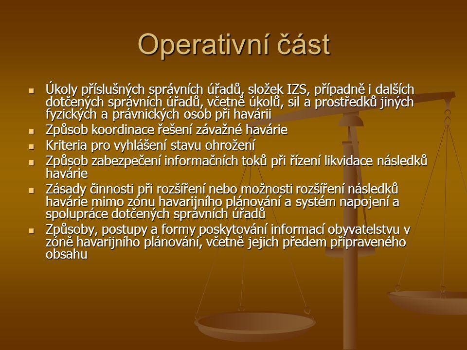 Operativní část