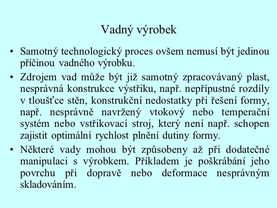 Vadný výrobek Samotný technologický proces ovšem nemusí být jedinou příčinou vadného výrobku.