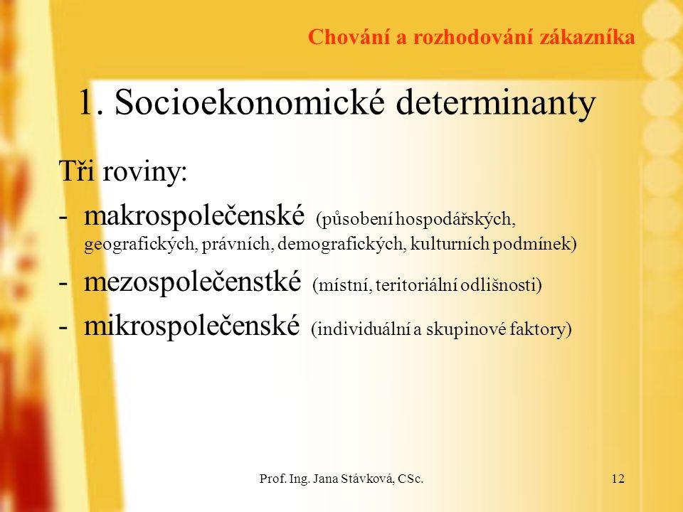 1. Socioekonomické determinanty