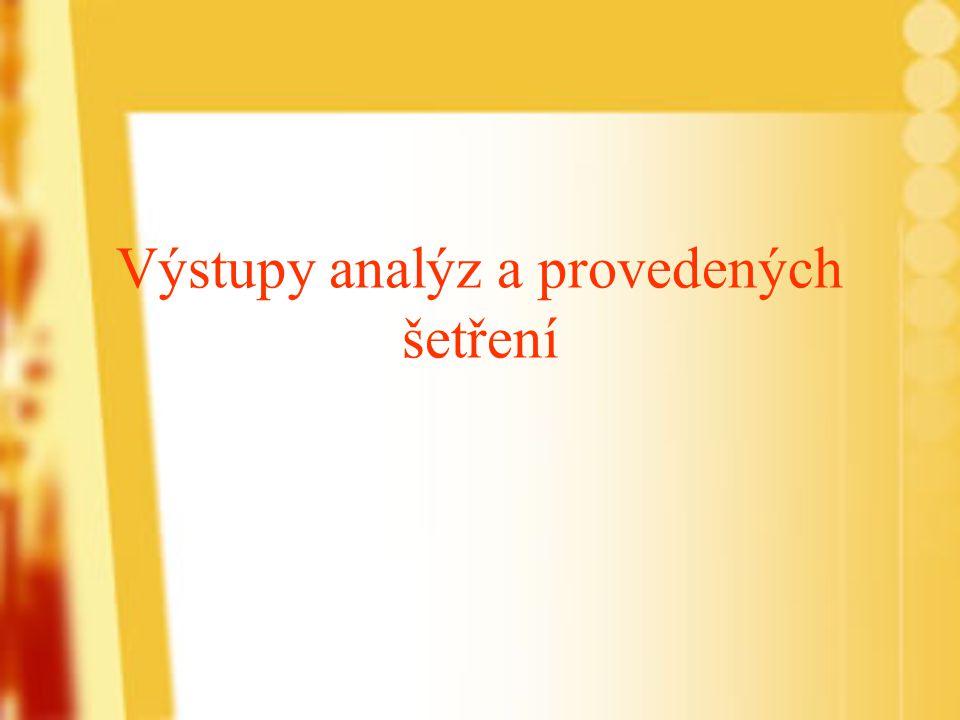 Výstupy analýz a provedených šetření