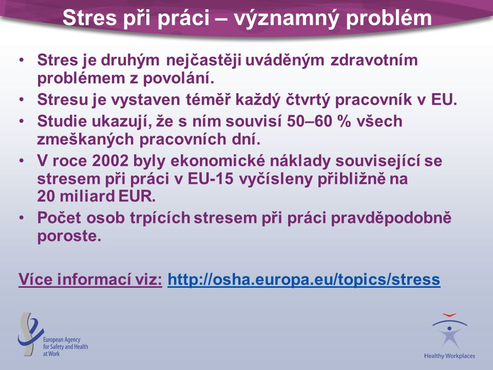 Stres při práci – významný problém
