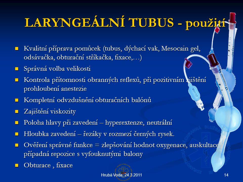 LARYNGEÁLNÍ TUBUS - použití