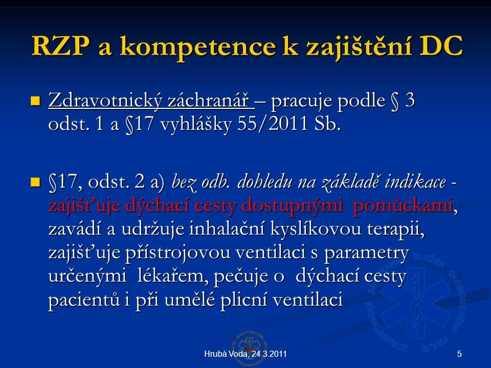 RZP a kompetence k zajištění DC