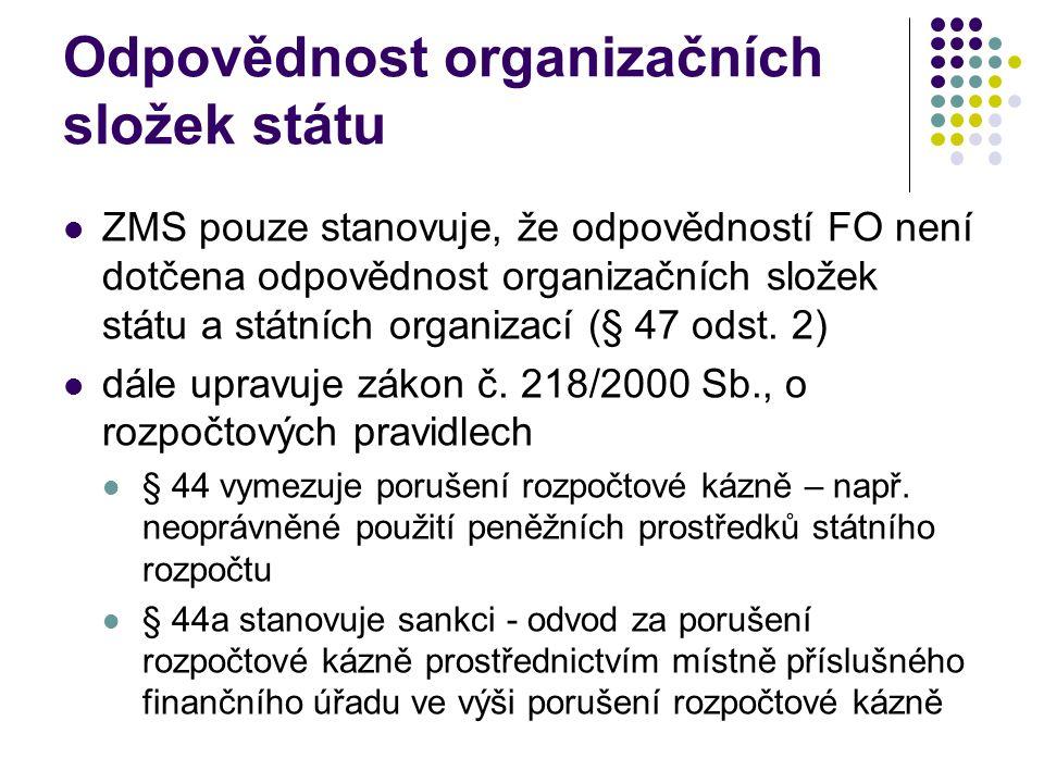 Odpovědnost organizačních složek státu
