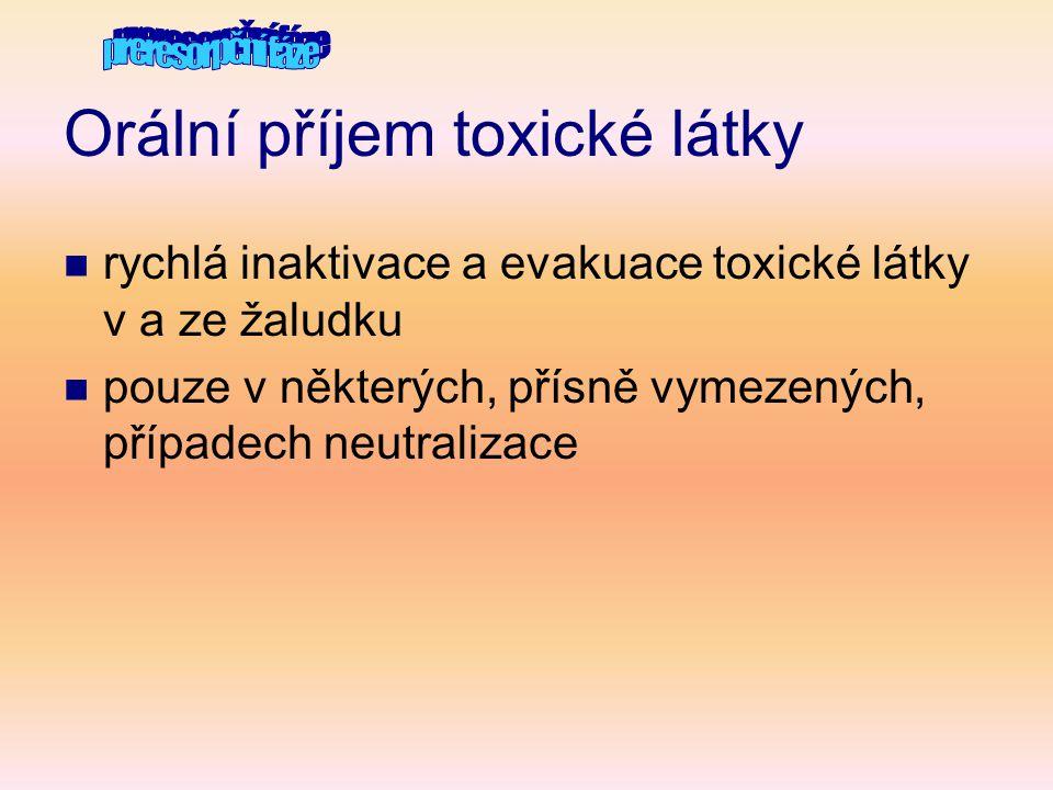 Orální příjem toxické látky