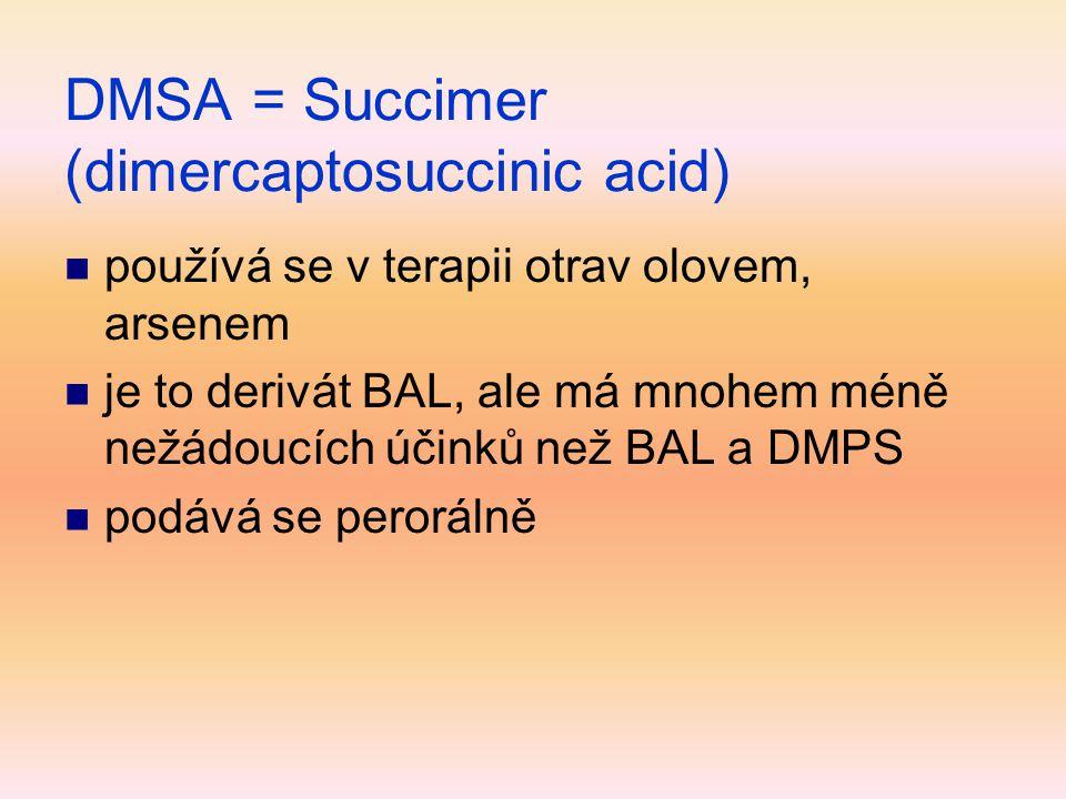 DMSA = Succimer (dimercaptosuccinic acid)