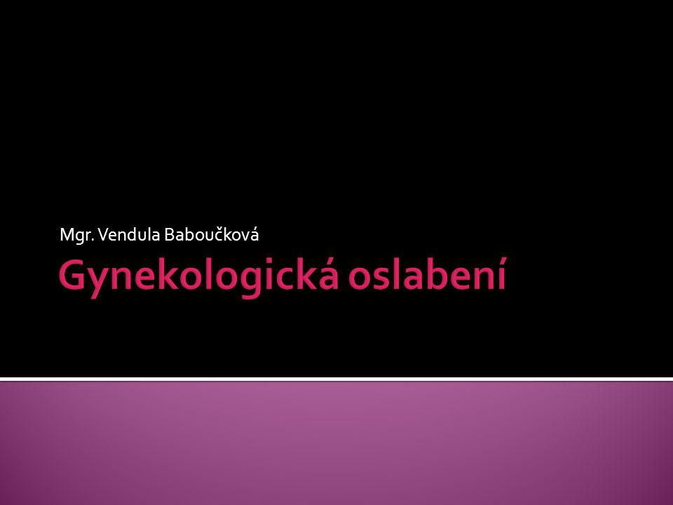 Gynekologická oslabení