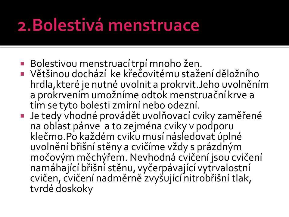 2.Bolestivá menstruace Bolestivou menstruací trpí mnoho žen.