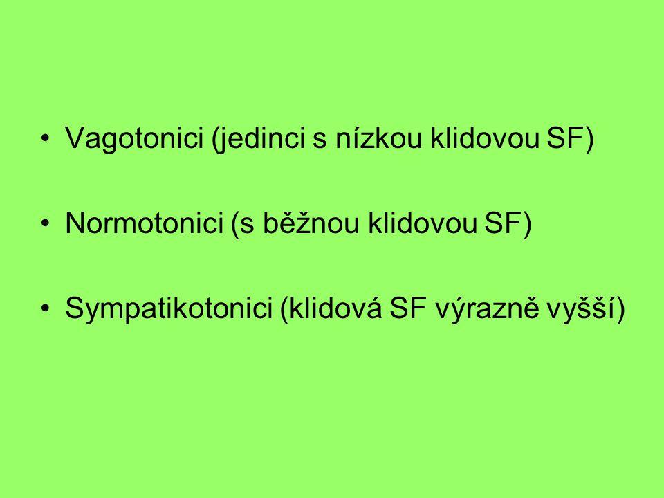 Vagotonici (jedinci s nízkou klidovou SF)