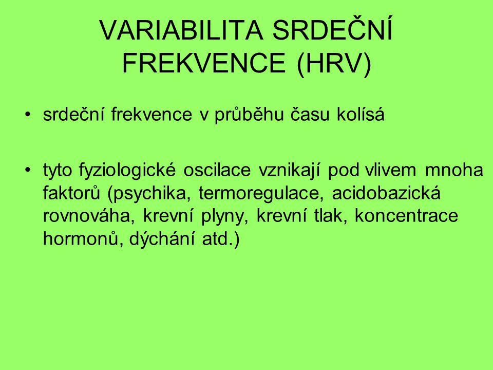 VARIABILITA SRDEČNÍ FREKVENCE (HRV)