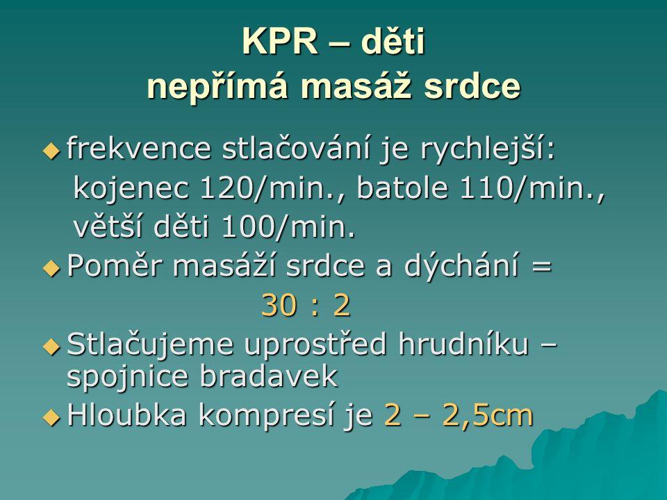 KPR – děti nepřímá masáž srdce