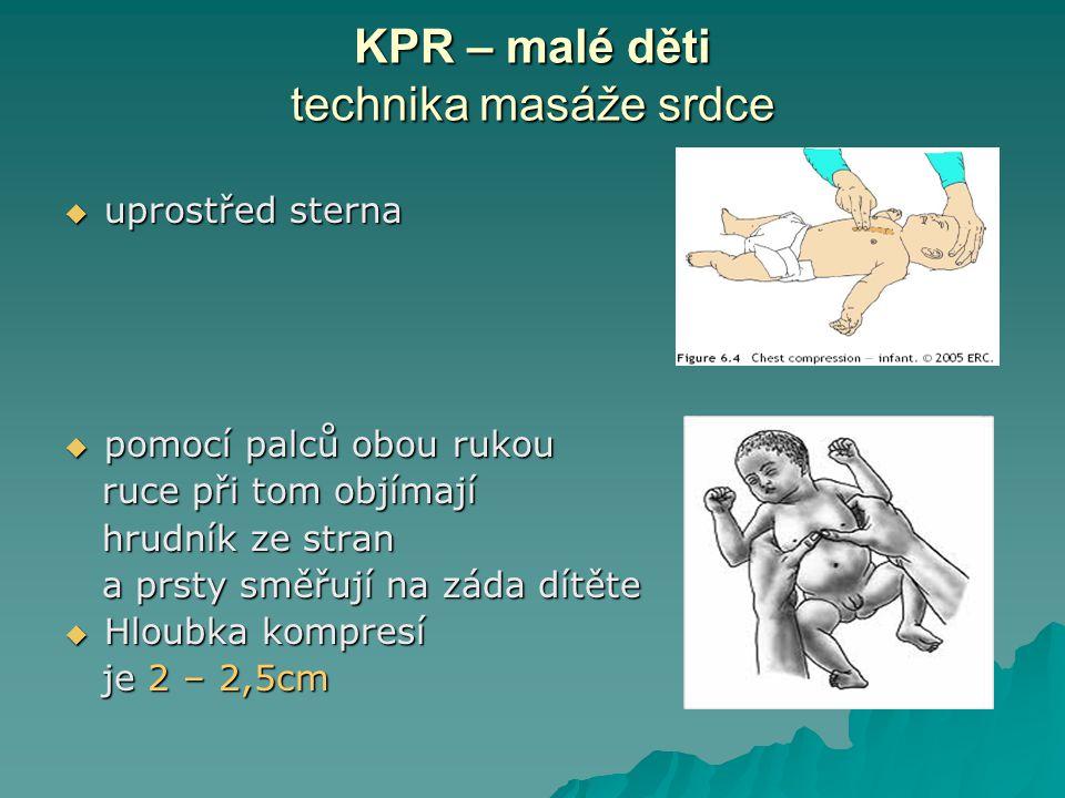 KPR – malé děti technika masáže srdce