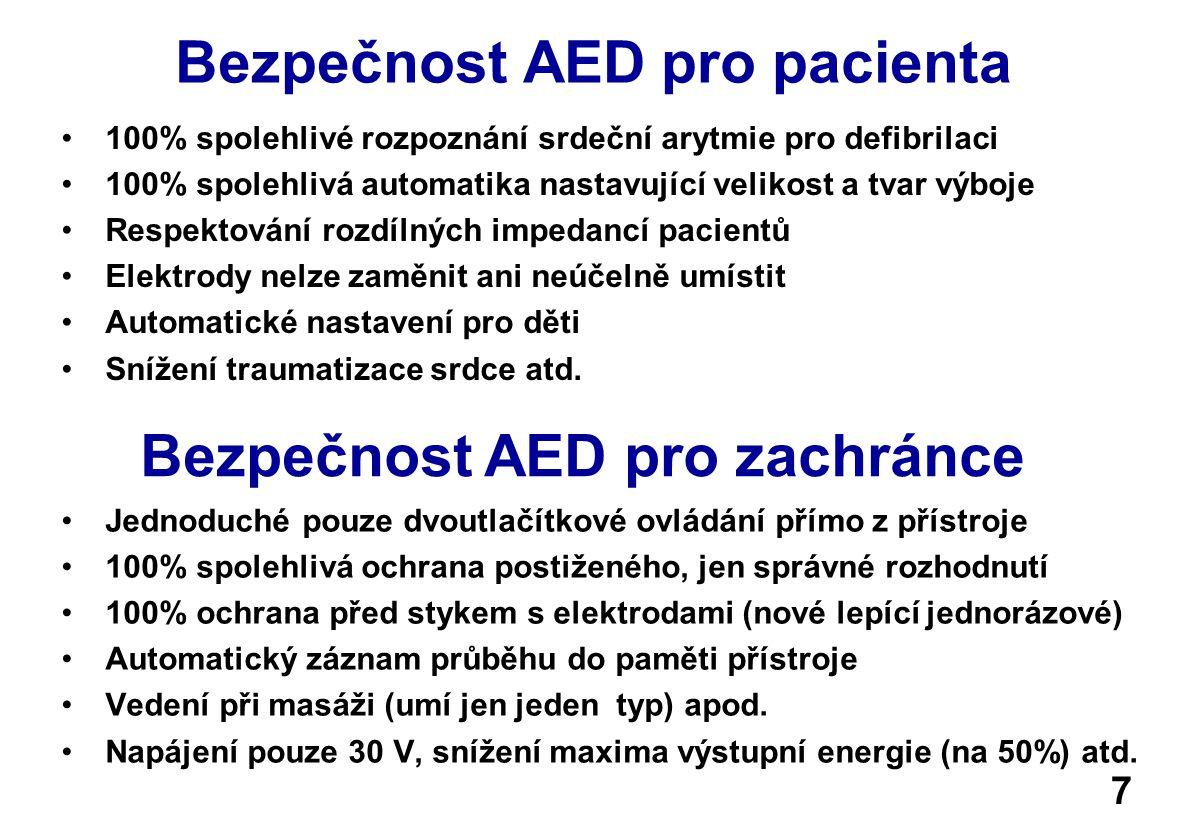 Bezpečnost AED pro pacienta