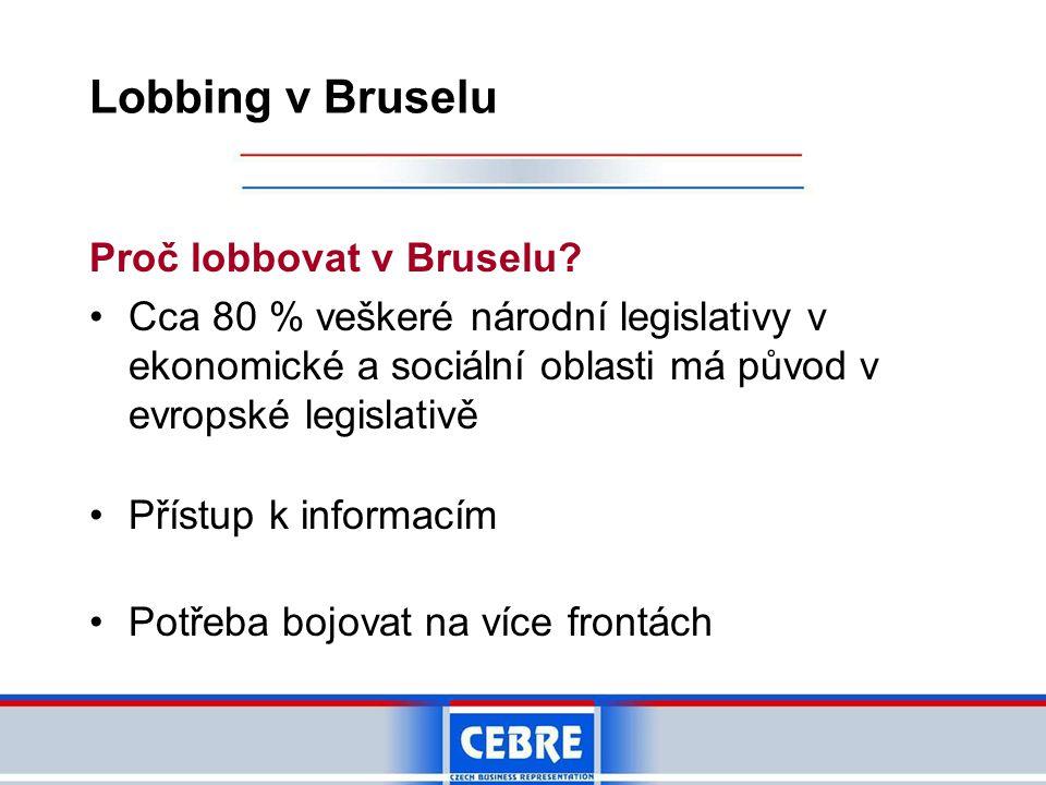 Lobbing v Bruselu Proč lobbovat v Bruselu