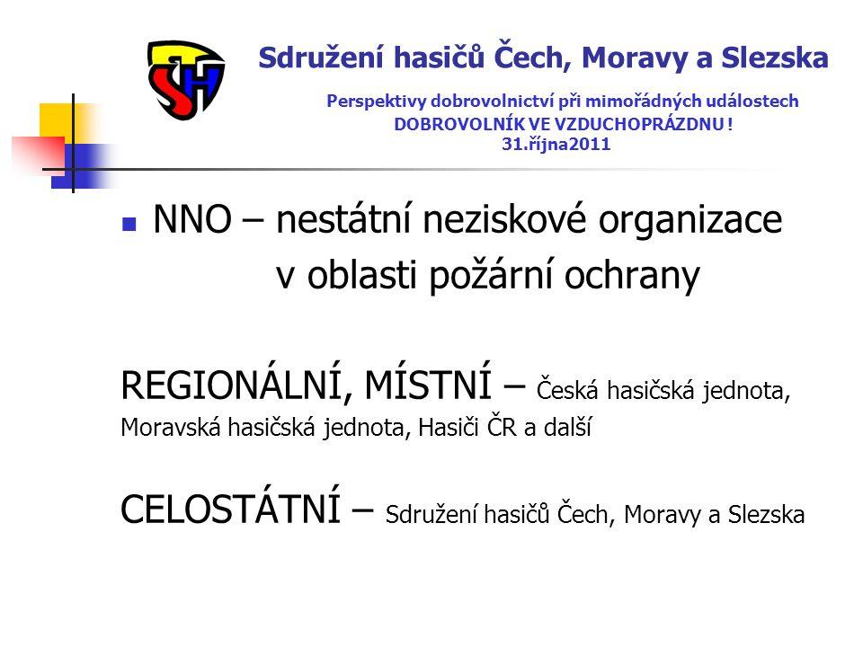 NNO – nestátní neziskové organizace v oblasti požární ochrany