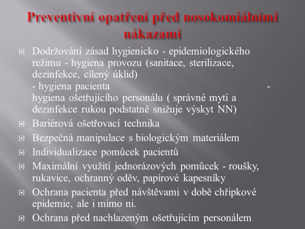Preventivní opatření před nosokomiálními nákazami