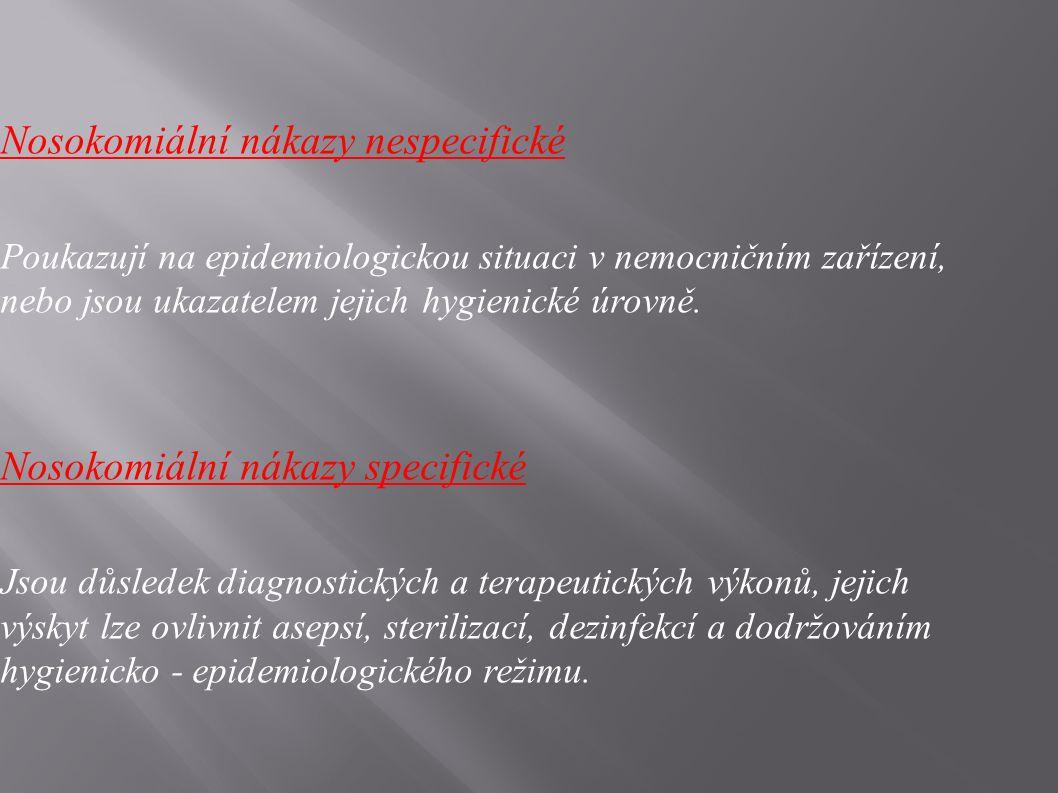 Nosokomiální nákazy nespecifické