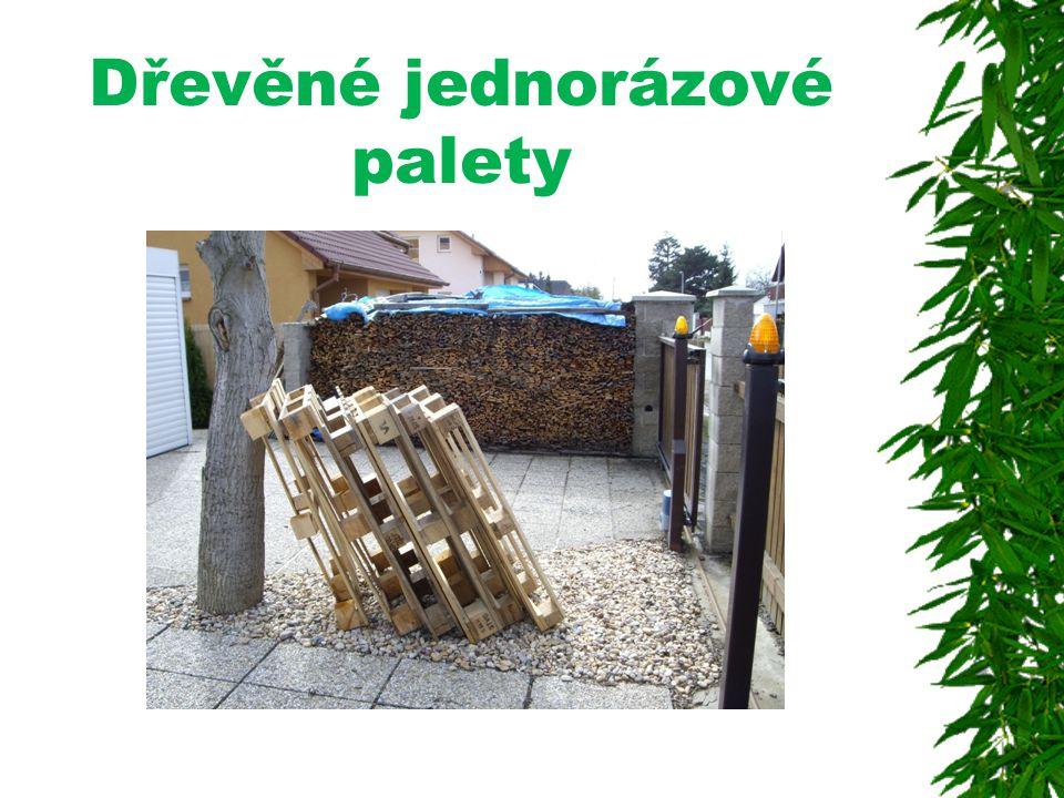 Dřevěné jednorázové palety