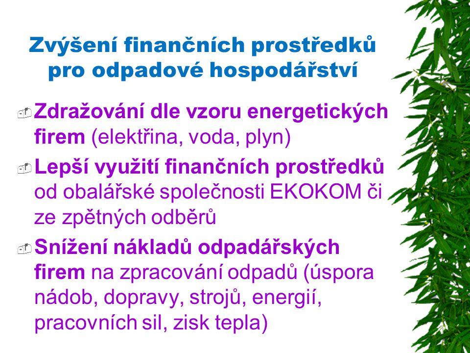 Zvýšení finančních prostředků pro odpadové hospodářství