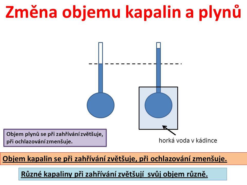 Změna objemu kapalin a plynů