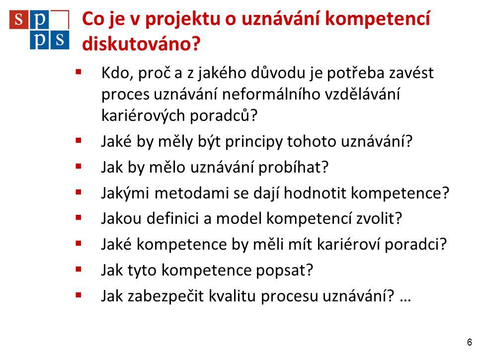 Co je v projektu o uznávání kompetencí diskutováno
