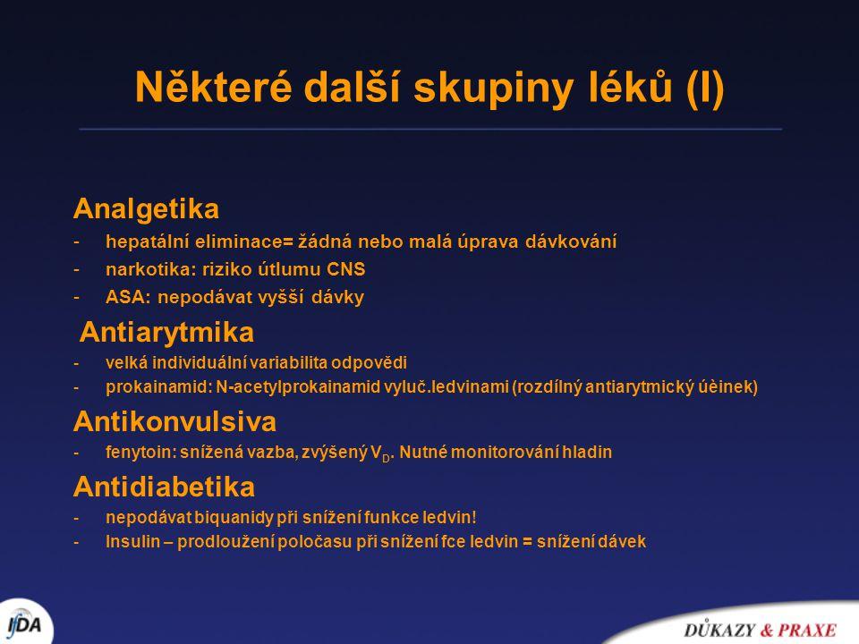 Některé další skupiny léků (I)