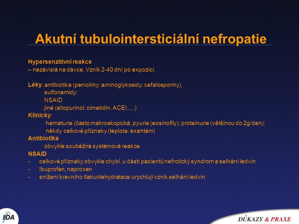 Akutní tubulointersticiální nefropatie