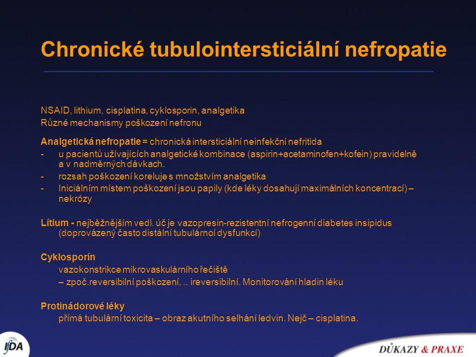 Chronické tubulointersticiální nefropatie