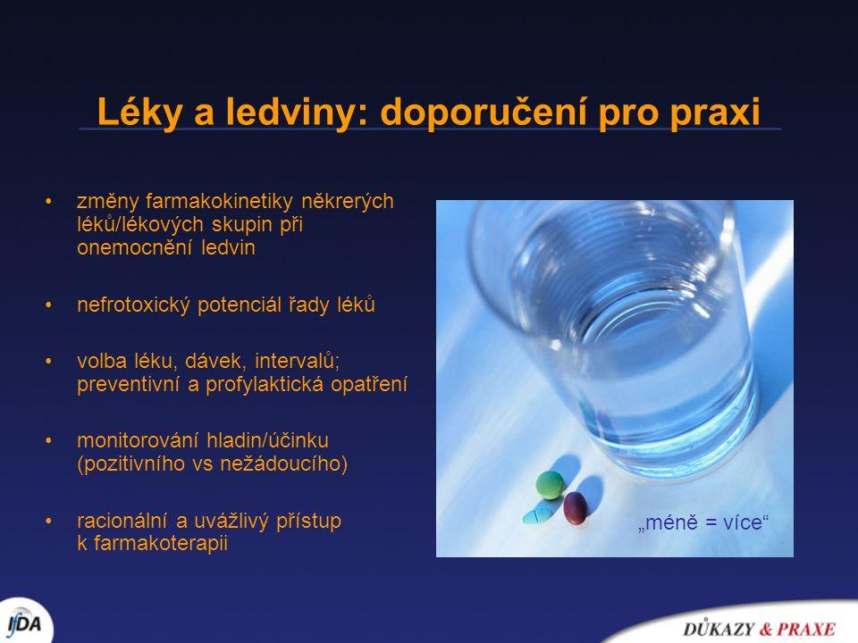 Léky a ledviny: doporučení pro praxi