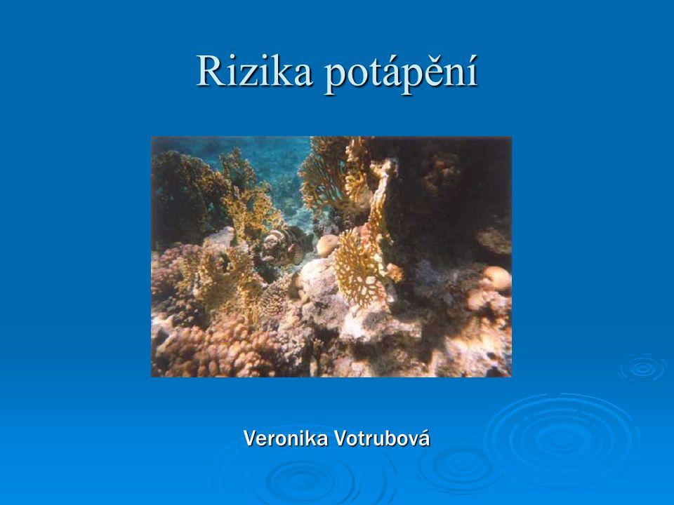 Rizika potápění Veronika Votrubová