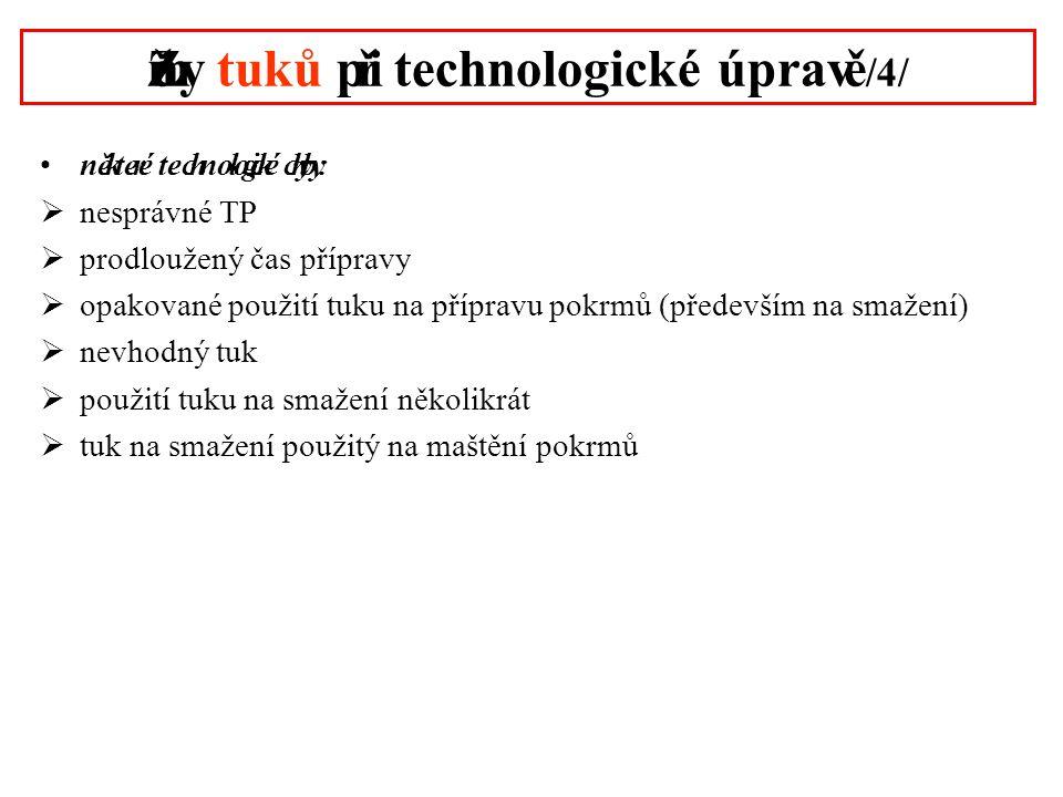 Změny tuků při technologické úpravě /4/
