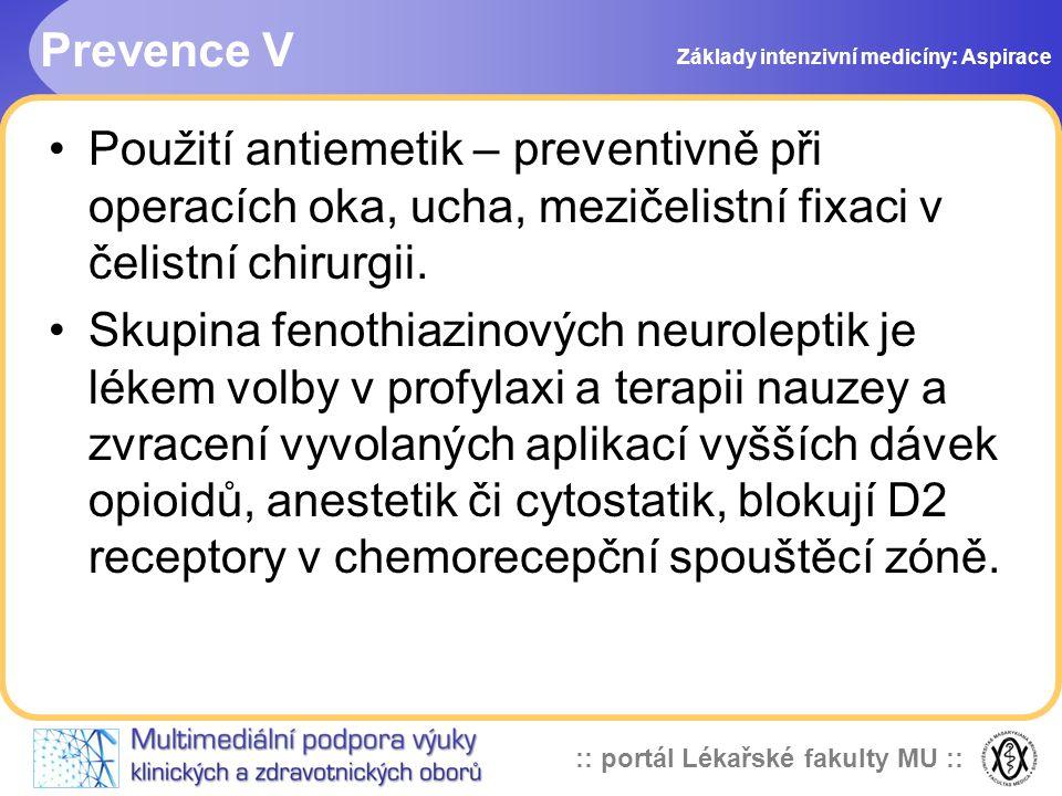 Prevence V Základy intenzivní medicíny: Aspirace.