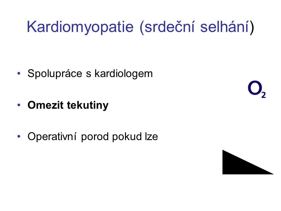 Kardiomyopatie (srdeční selhání)