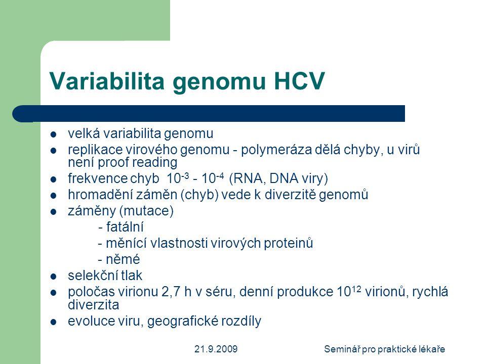 Variabilita genomu HCV