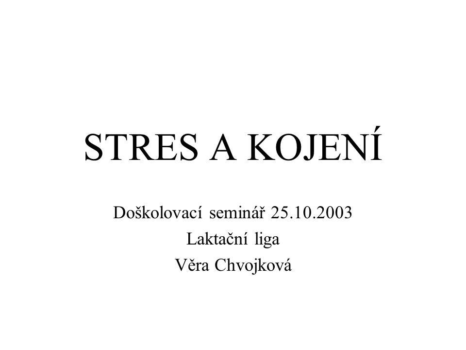 Doškolovací seminář 25.10.2003 Laktační liga Věra Chvojková
